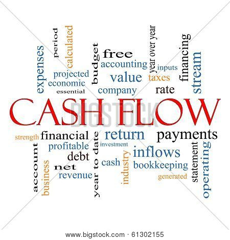 Cash Flow Word Cloud Concept