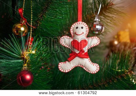 Christmas Tree With Gingerbread Man