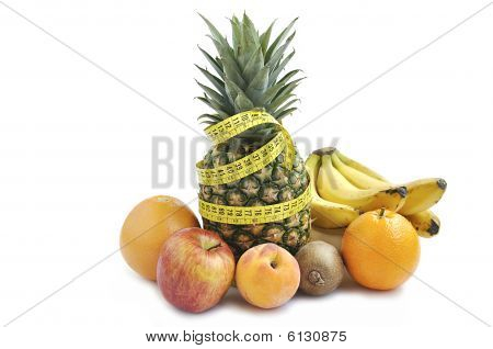 Fruits With Measuring Tape.