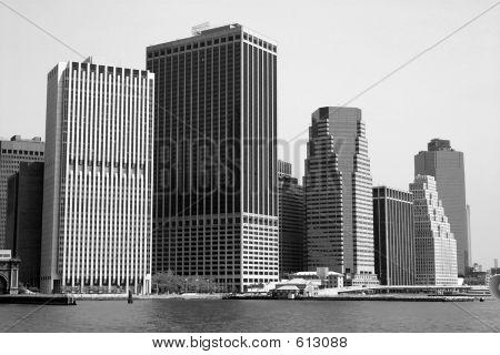 NYC Skyline In B&W