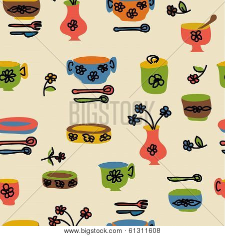 icons of kitchen ware and utensils