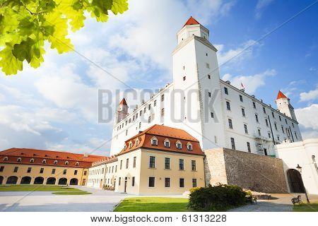 Castle Yard In Bratislava