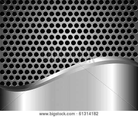 Background With Metal Grid