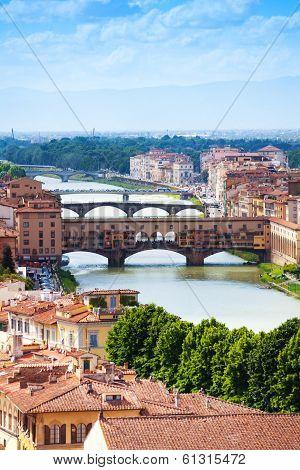 Ponte Vecchio In Tuscany