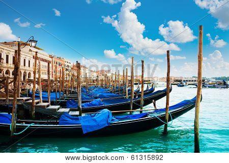 Gondolas Near San Marko