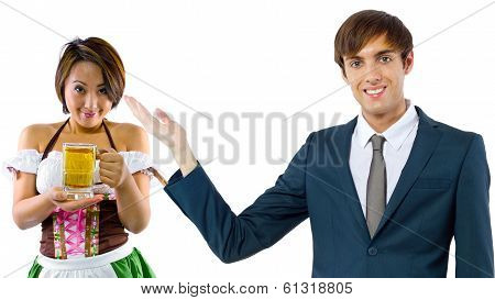 Businessman and Waitress