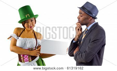 Businessman on St Patricks Day
