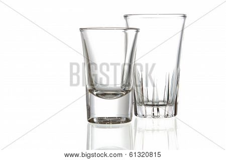 Empty glass. Isolated on white isolated background