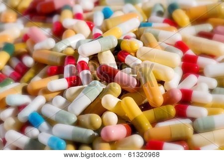 Background Of Assorted Capsules