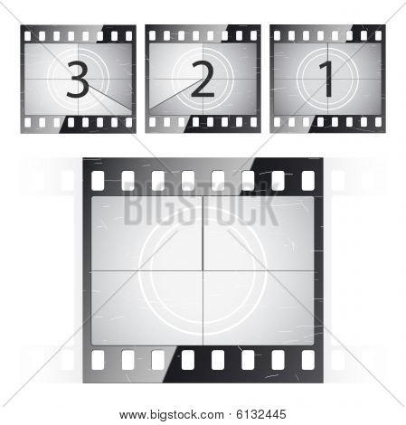 Film strip countdown. Vector.