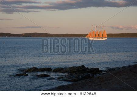 Clipper Ship in Full Sail