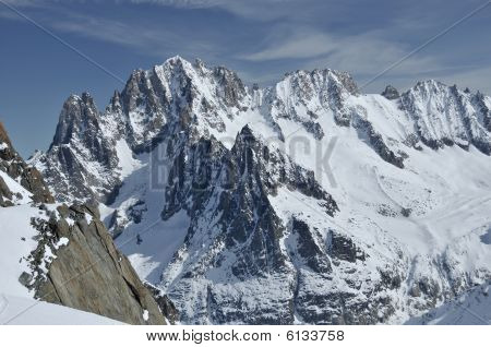 The Famous Aiguille Verte And The Drus