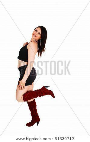 Dancing Girl In Boots.