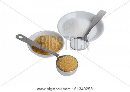 Refined and unrefined sugars