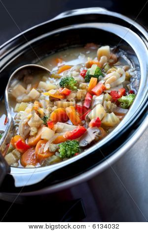 Slow-cooked Vegetable Soup