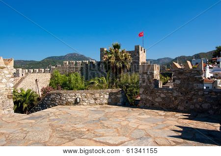 The Turkish Flag Over Fortress