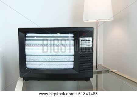 Retro television with fuzzy screen