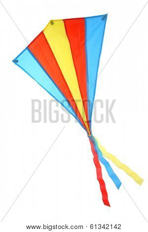 Colorful Kite on white