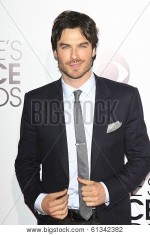 LOS ANGELES - JAN 8: Ian Somerhalder at The People's Choice Awards at the Nokia Theater L.A. Live on January 8, 2014 in Los Angeles, California
