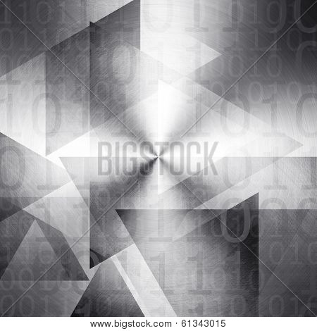Abstract background with triangle patten and binary code