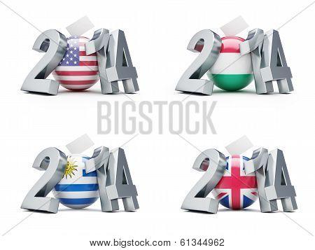 Elections In U.s. Senate, Hungary, Uruguay, Britain 2014