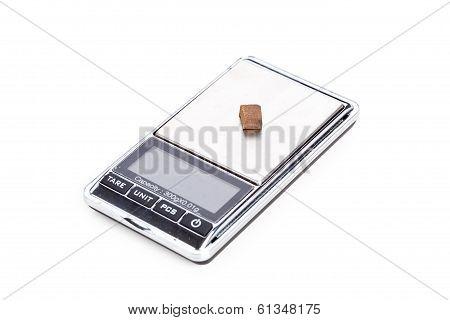 Piece Of Hashish On Digital Scales