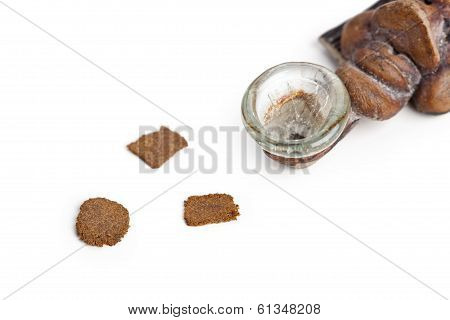 Smoking Pipe And Slices Of Hashish