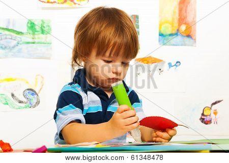 Boy Gluing