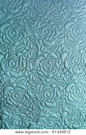 Quilted floral silk background