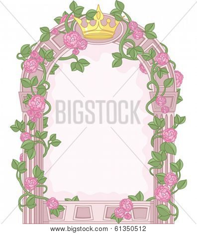 Romantic Floral Fairy Tale Frame