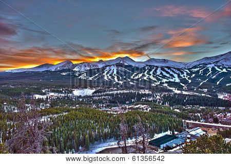 Sunset In Breckenridge Hdr