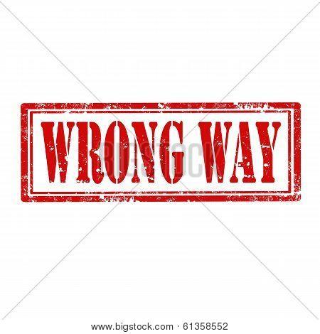Wrong Way-stamp