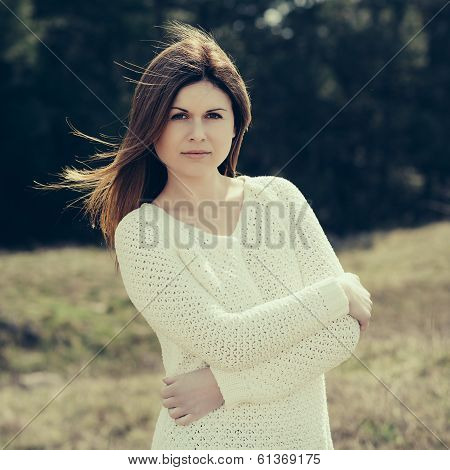 Fashion Woman Outdoor Portrait.