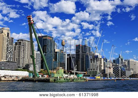 Crown Casino construction at Barangaroo, Sydney
