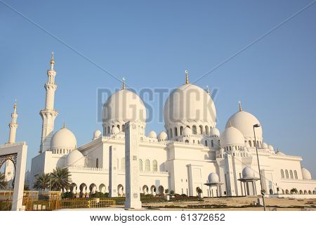 sheikh zayed mosque, abu dhabi, uae, middle east