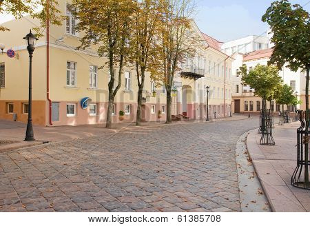 Old Small Street In Grodno, Belarus