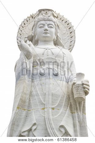 White Statue Of Guanyin