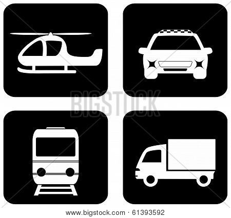 isolated transport icons