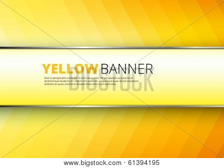 Yellow-orange background with banner place