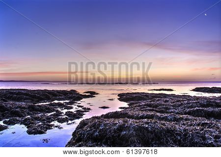 pink and blue sunrise at hannafore point