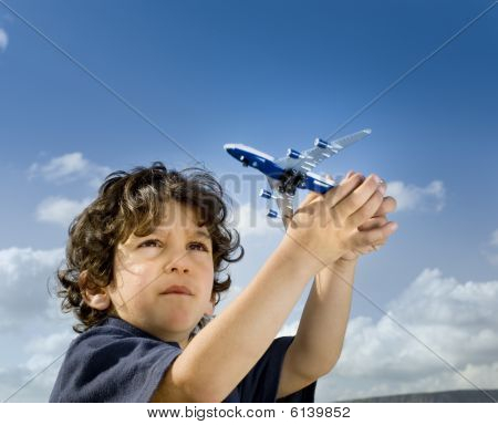 Little Boy Toy Airplane