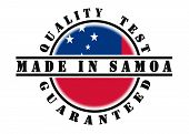 pic of samoa  - Quality test guaranteed stamp with a national flag inside Samoa - JPG