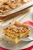stock photo of fancy cake  - Homemade Coffee Cake with Cinnamon and Nuts - JPG
