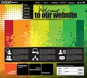 Website Template. Vector