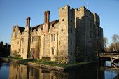 stock photo of manor  - HEVER CASTLE AND GARDENS - JPG
