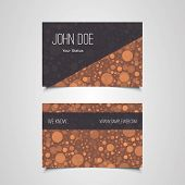 Business Card Template with Abstract Circles Design