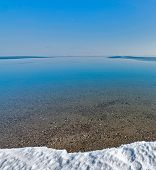 picture of sakhalin  - Pack ice on the coast of the Okhotsk sea Sakhalin island Russia - JPG