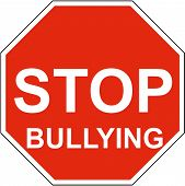 image of stop bully  - a stop sign with stop bullying on it - JPG