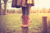image of woman boots  - Closeup on a woman - JPG