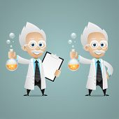 pic of mad scientist  - Illustration - JPG